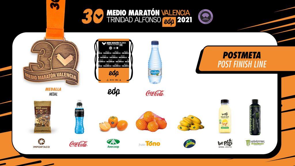 bolsa del corredor del medio maratón valencia